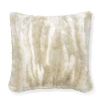 "Faux Fur Pillow Cover, 18"" X 18"", Arctic Fox - Williams Sonoma"