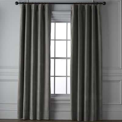 "Velvet Rod Pocket Drape, 108"", Graphite - Williams Sonoma"