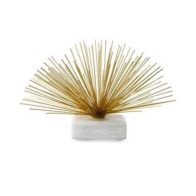 Brass & Marble Starburst Sculpture - Williams Sonoma