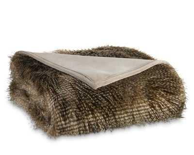 Faux Fur Blanket, Brown Owl - Williams Sonoma