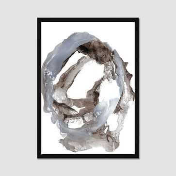 """Framed Print, Gray Paintstroke, II, 20""""x28"""" - West Elm"""
