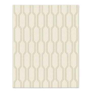 SPO Honeycomb Textured Wool Rug, 8'x10', Ivory - West Elm