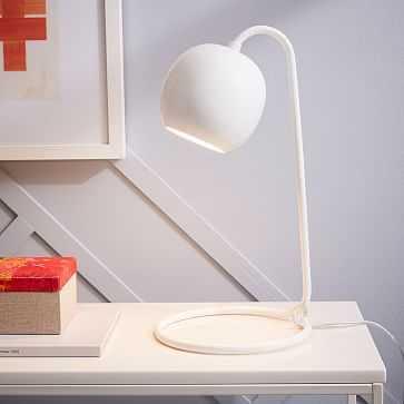 Scoop Table Lamp, White - West Elm
