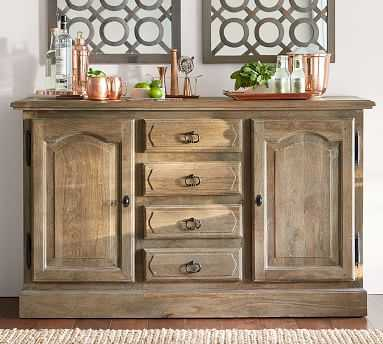 Linden Buffet, Belgian Gray - Pottery Barn