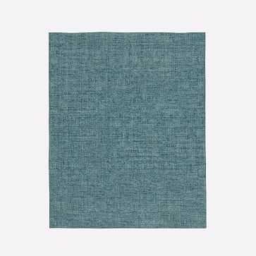 Patina Rug, Deep Teal, 8'x10' - West Elm