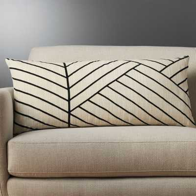"36""""x16"" forma pillow with feather-down insert"" - CB2"