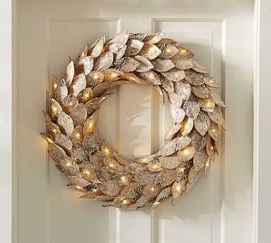 Lit Birch Wreath - Pottery Barn