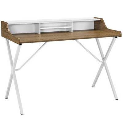 BIN OFFICE DESK IN Walnut - Modway Furniture