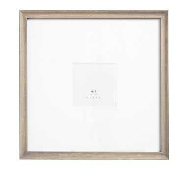 "Catalina Gray Wood Gallery Frame, 5x5"" - Pottery Barn"