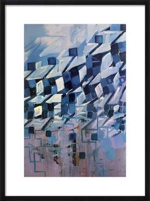 Houndstooth Series (winter coat) - Artfully Walls