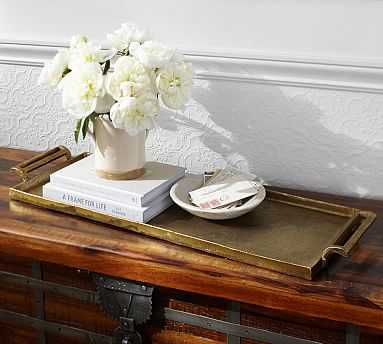 Long Gold Metal Tray - Pottery Barn