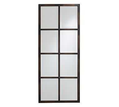 "Eagan Multipanel Extra-Small Mirror, 18 x 44"", Bronze Finish - Pottery Barn"
