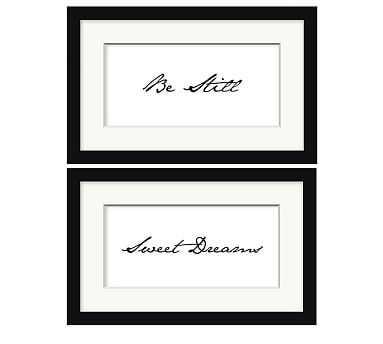 "Sleeping Sentiments Print, 16 x10"", Set of 2 - Pottery Barn"