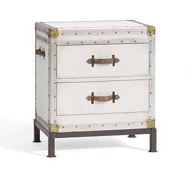 Ludlow Bedside Table, White - Pottery Barn