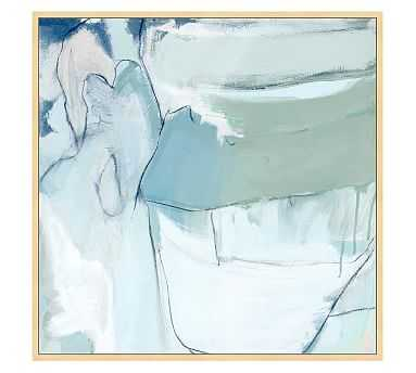 "Sunken Treasure Framed Canvas by Mary Elizabeth Peterson, 50 x 50"" - Pottery Barn"