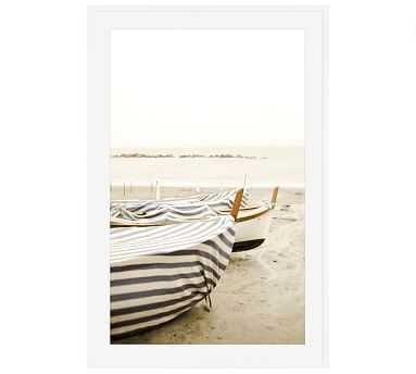 """Boat Cover by Lupen Grainne, 28 x 42"""", Wood Gallery, White, Mat - Pottery Barn"""