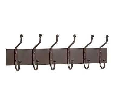 Cast Iron Row of 6 Hooks - Pottery Barn