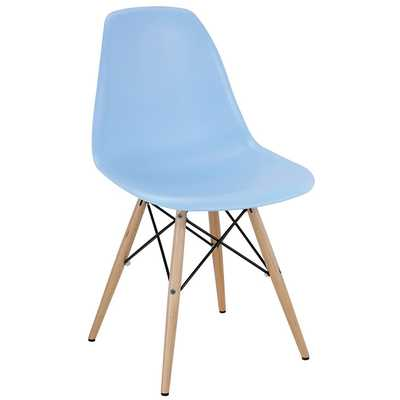 PYRAMID DINING SIDE CHAIR IN LIGHT BLUE - Modway Furniture