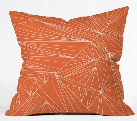 "Tech It Out Orange - Throw Pillow with Insert-16"" x 16"" - Wander Print Co."