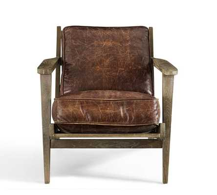 Raylan Leather Armchair - Pottery Barn