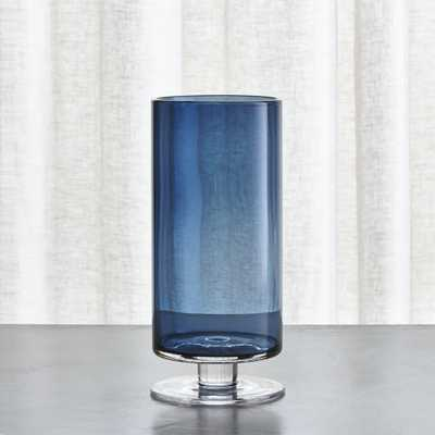 London Narrow Short Blue Hurricane - Crate and Barrel - Crate and Barrel
