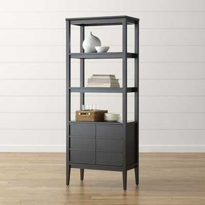 Spotlight Ebony Bookcase - Ebony - Crate and Barrel