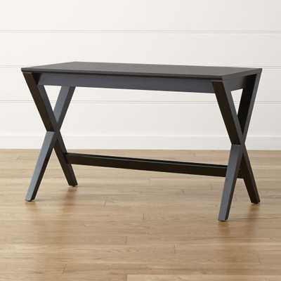 "Spotlight Ebony 48"" Writing Desk - Crate and Barrel - Crate and Barrel"