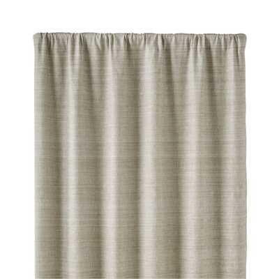 "Silvana Grey Silk 48""x96"" Curtain Panel - Crate and Barrel - Crate and Barrel"