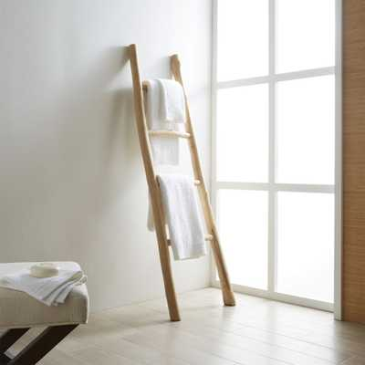 Teak Ladder - Crate and Barrel - Crate and Barrel