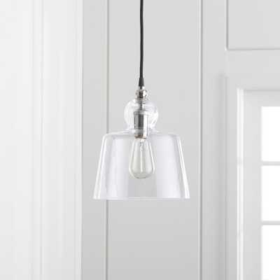 Lander Polished Nickel Pendant Light - Crate and Barrel - Crate and Barrel