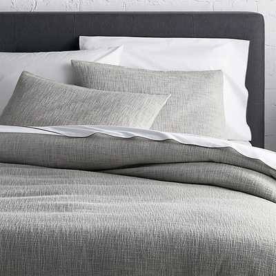 Lindstrom Grey Duvet Covers and Pillow Shams - Crate and Barrel