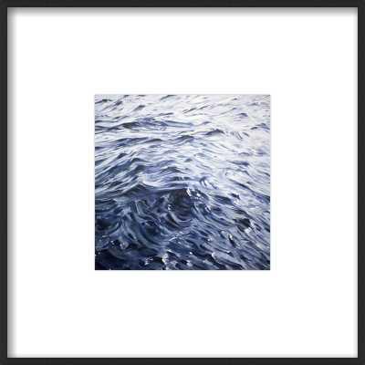 "Smooth Sailing - 8""x8"" Art Print - Black Metal Frame with Mat - Artfully Walls"