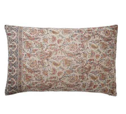 Jaxton Printed Lumbar Pillow Cover - Pottery Barn