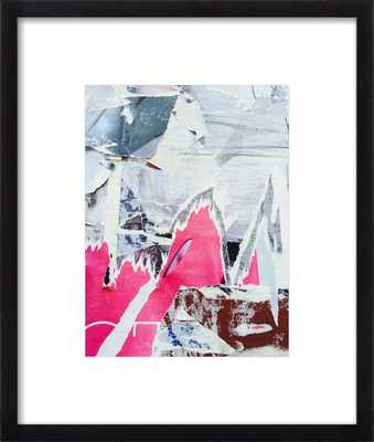 "Street Art - 1- 11x14""- Black wood frame, with mat - Artfully Walls"