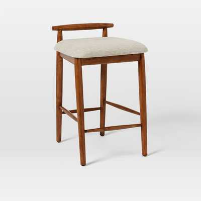 Framework Upholstered Counter Stool - Wheat - West Elm