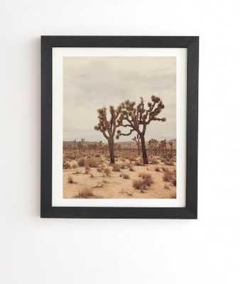 "CALIFORNIA JOSHUA TREES Framed Wall Art - 19"" x 22.4"", Basic Black Frame - Wander Print Co."