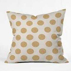 "GOLD DOTS Throw Pillow - 20"" x 20"" - Polyester fill insert - Wander Print Co."