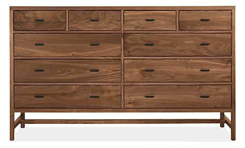 Berkeley Dresser - Storage Cabinet, Walnut, Natural Steel - Room & Board