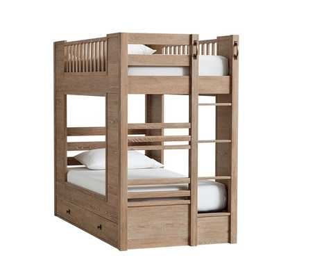 Charlie Twin-Over-Twin Storage Bunk Bed - Pottery Barn Kids