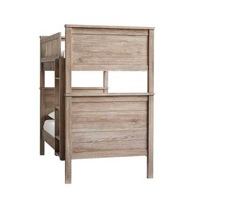 Charlie Bunk Bed, Twin over Twin, Smoked Gray - Pottery Barn Kids