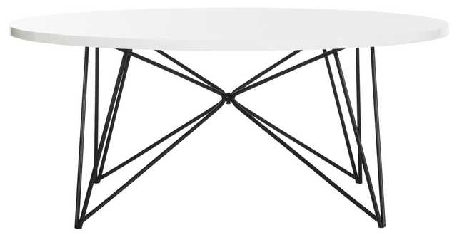 MARIS RETRO MID CENTURY ROUND COFFEE TABLE - WHITE - Arlo Home