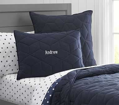 Jersey Quilt, Twin, Navy - Pottery Barn Kids