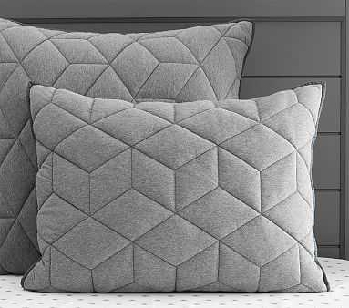 Jersey Standard Quilted Sham, Gray - Pottery Barn Kids