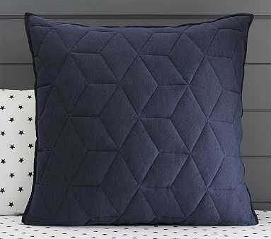 Jersey Euro Quilted Sham, Navy - Pottery Barn Kids