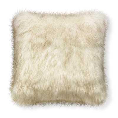 "Faux Fur Pillow Cover, 18"" X 18"", White Sable - Williams Sonoma"
