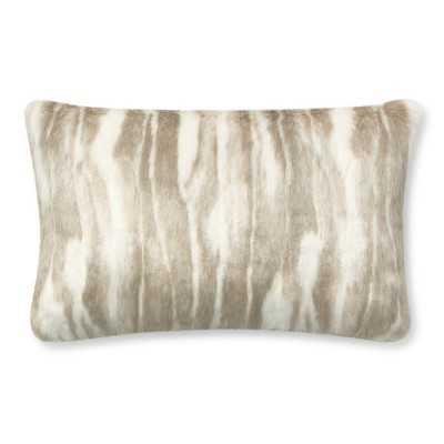 "Faux Fur Pillow Cover, 14"" X 22"", Arctic Fox - Williams Sonoma"