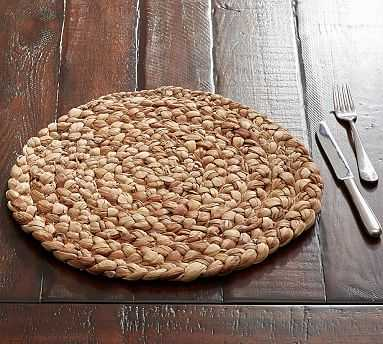 Water Hyacinth Round Placemat, Set of 4 - Pottery Barn
