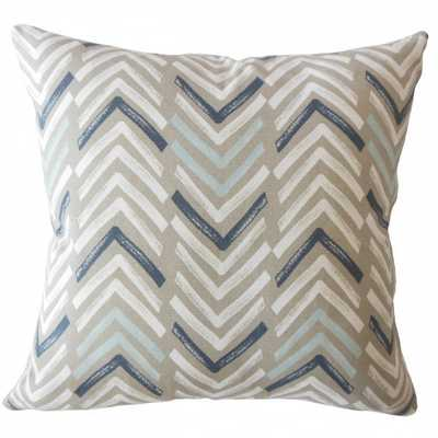 Barend Geometric Pillow Driftwood - Poly Insert - Linen & Seam