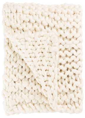 Aya Throw - White Swan - Collective Weavers