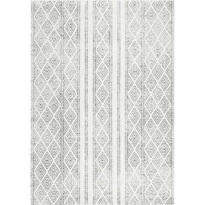 Contemporary Geometric Diamond Grey Rug (8x10') - Overstock